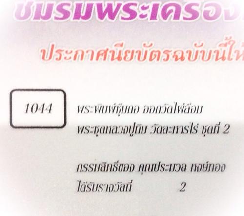 Second prize certificate documentation