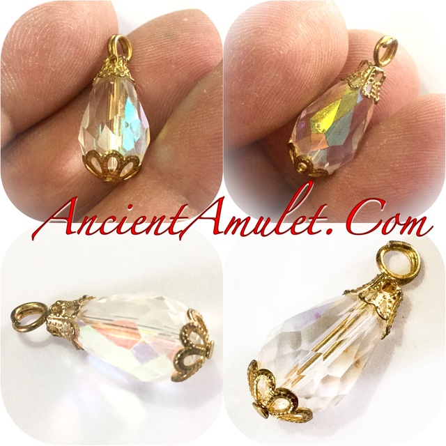 Look Gaew Sarapat Neuk Wishing Crystal Amulet Luang Por Ruesi Ling Dam