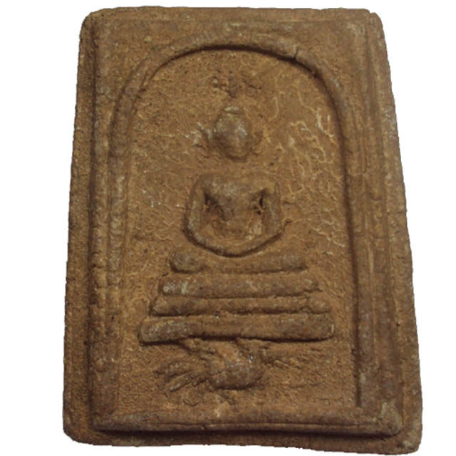 Pra Somdej Khee Gai Buddha Riding a Cockerel amulet in Nuea Wan