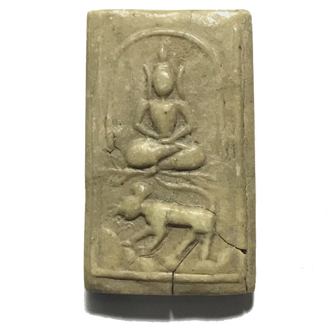 Pra Somdej Song Suea Buddha Riding Tiger Amulet in Nuea Pong Nam Man