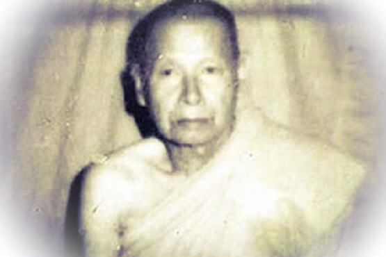 Luang Phu Nai of Wat Bang Jaeng in Ayuttaya