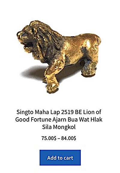 Click to Buy Singto Maha Lap Amulet Ajarn Bua 2519 BE